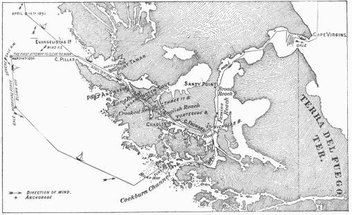 The course of the Spray through the Strait of