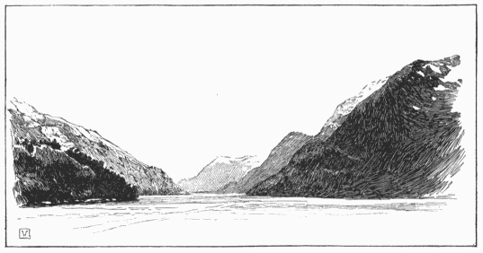 Looking west from Fortescue Bay, where the Spray was