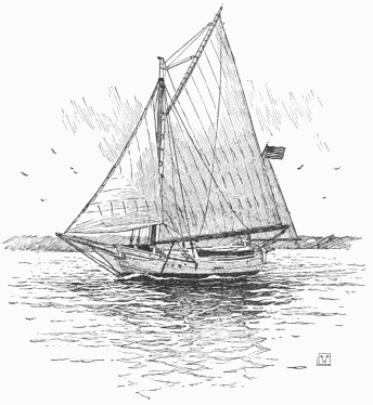 The Spray leaving Sydney, Australia, in, the new suit