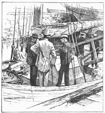 Captain Slocum, Sir Alfred Milner (with the tall hat),