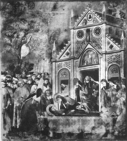 THE BODY OF S. FRANCIS BEFORE THE CHURCH OF S. DAMIANO