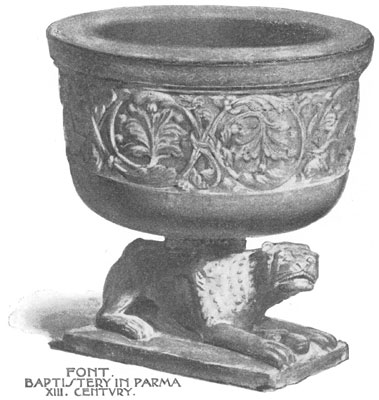 Font Baptistery in Parma XIII. Century.