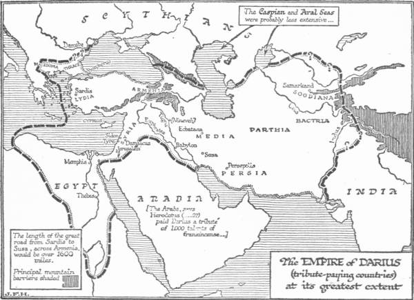 Open ipub a short history of the world map the empire of darius tribute paying countries at its greatest extent fandeluxe Images