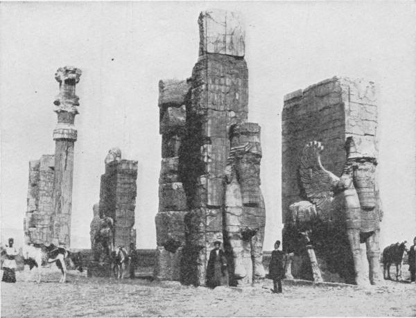 THE GREAT PORCH OF XERXES, AT PERSEPOLIS