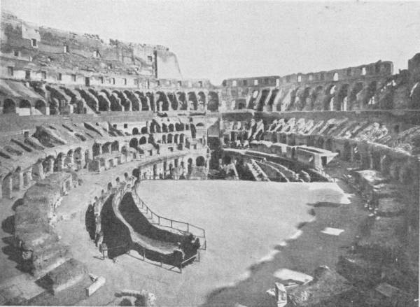 INTERIOR OF THE COLISEUM AT IT APPEARS TO-DAY
