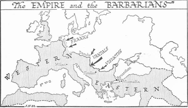 Map: The Empire and the Barbarians