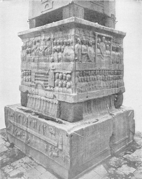 "BASE OF THE ""OBELISK OF THEODOSIUS,""
