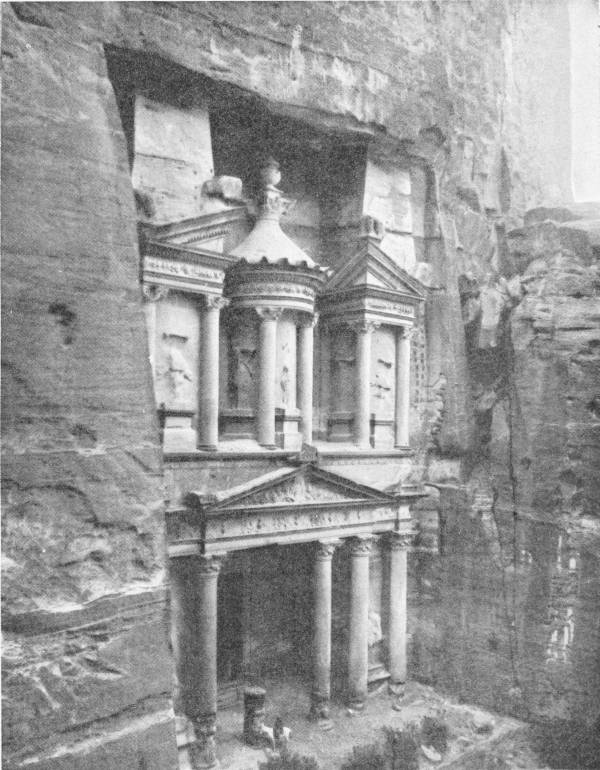 THE ROCK HEWN TEMPLE AT PETRA