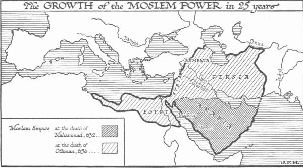 Map: The Growth of the Moslem Power in 25 Years