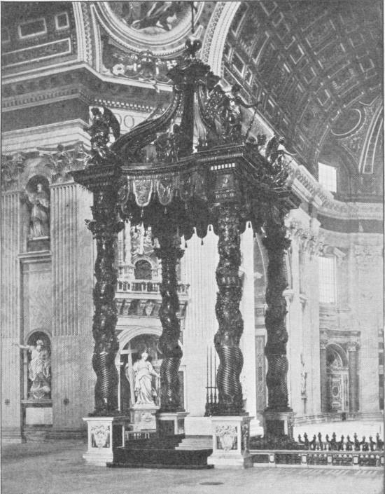 INTERIOR OF ST. PETER'S, ROME, SHOWING THE HIGH ALTAR