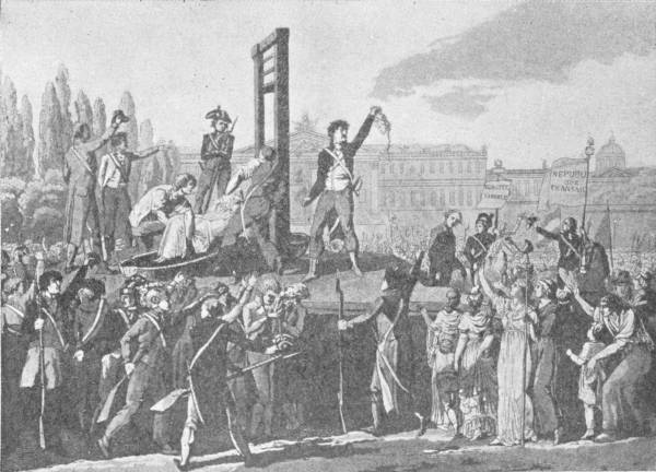 THE EXECUTION OF MARIE ANTOINETTE, QUEEN OF FRANCE,