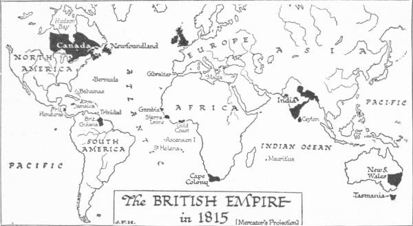 Map: The British Empire in 1815