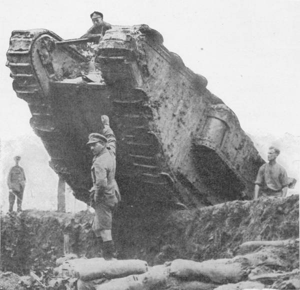 BRITISH TANK IN THE BATTLE OF THE MENIN ROAD