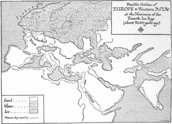 Map: Possible Outline of Europe and Western Asia at the Maximum